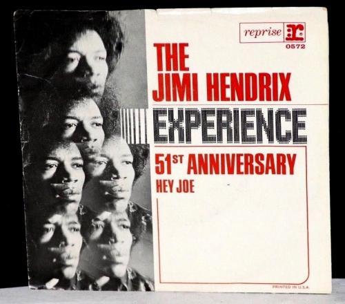 """SCARCE  1967 Jimi Hendrix Experience, """"Hey Joe"""" 45 Orig Record Sleeve & Record"""