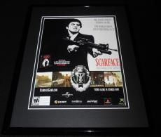 Scarface 2007 PS2 XBox Framed 11x14 ORIGINAL Advertisement Al Pacino