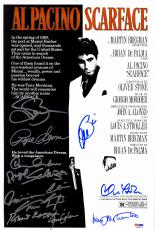 "Scarface Autographed 11"" x 17"" Movie Poster with 11 signatures – PSA LOA"