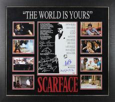 Scarface Cast (11) Al Pacino Signed & Framed Mini Poster Display PSA #6A67384