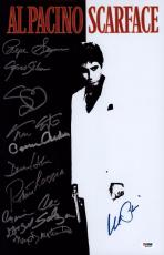 Scarface Cast Signed 11x17  Al Pacino Colon Loggia Margolis Psa/ Dna Itp Loa
