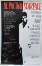 Scarface Cast Signed Full Size Poster Al Pacino Signed 27x40  Psa/ Dna Full Loa