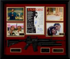 """Scarface Framed Autographed 37"""" x 43"""" x 4""""  Collage with 11 Signatures - PSA/DNA"""