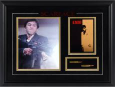 Scarface Framed Photograph with Bullets & Mini Movie Poster