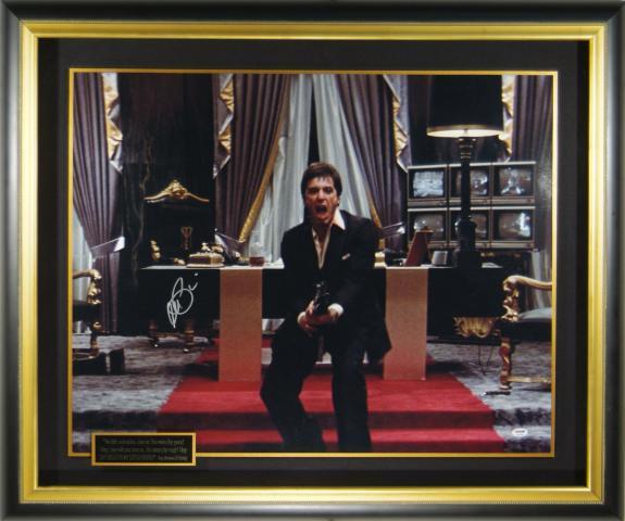 Scarface movie scene signed by Al Pacino Framed 39×33