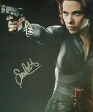 Scarlett Johansson Black Widow Signed Avengers Photo JSA Authentic Autograph