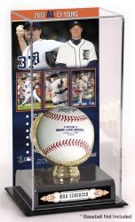 Max Scherzer Detroit Tigers 2013 American League Cy Young Award Gold Glove with Image Display Case - Mounted Memories