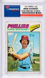 SCHMIDT, MIKE (1977 TOPPS # 140) CARD - Mounted Memories