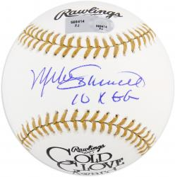 Mike Schmidt Philadelphia Phillies Autographed Gold Glove Baseball with 10 X GG Inscription