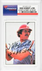 Mike Schmidt Philadelphia Phillies Autographed 1975 SSPC #470 Card with 12 X All Star Inscription - Mounted Memories  - Mounted Memories