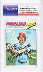 Mike Schmidt Philadelphia Phillies Autographed 1977 Topps #140 Card with 12 X All Star Inscription - Mounted Memories  - Mounted Memories