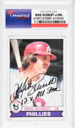Mike Schmidt Philadelphia Phillies Autographed 1979 Topps #610 Card with 12 X All Star Inscription - Mounted Memories  - Mounted Memories