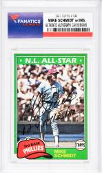 Mike Schmidt Philadelphia Phillies Autographed 1981 Topps #540 Card with 12 X All Star Inscription - Mounted Memories  - Mounted Memories