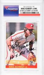 Mike Schmidt Philadelphia Phillies Autographed 1984 Donruss #183 Card with 12 X All Star Inscription - Mounted Memories  - Mounted Memories