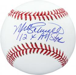 Mike Schmidt Philadelphia Phillies Autographed Baseball with 12 X All Star Inscription
