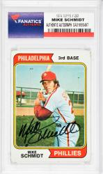 Mike Schmidt Philadelphia Phillies Autographed 1974 Topps #283 Card - - Mounted Memories
