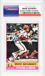 Mike Schmidt Philadelphia Phillies Autographed 1976 Topps #480 Card
