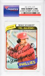 Mike Schmidt Philadelphia Phillies Autographed 1980 Topps #270 Card with 1980 WS MVP Inscription - Mounted Memories  - Mounted Memories