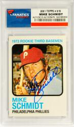 Mike Schmidt Philadelphia Phillies Autographed 2001 Topps #615 Card - Mounted Memories