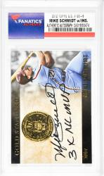 Mike Schmidt Philadelphia Phillies Autographed 2012 Topps G.S.#Gs-6 Card with 3 X NL MVP Inscription - Mounted Memories  - Mounted Memories