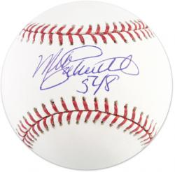 Mike Schmidt Philadelphia Phillies Autographed Baseball with 548 Inscription - Mounted Memories