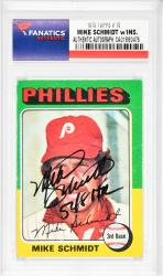 Mike Schmidt Philadelphia Phillies Autographed 1975 Topps #70 Card with 548 HR Inscription - Mounted Memories  - Mounted Memories