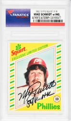 Mike Schmidt Philadelphia Phillies Autographed 1982 Topps Squirt #14 Card with 548 HR Inscription - Mounted Memories  - Mounted Memories