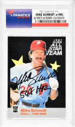 Mike Schmidt Philadelphia Phillies Autographed 1987 Fleer A.S. #6 Card with 548 HR Inscription - Mounted Memories  - Mounted Memories