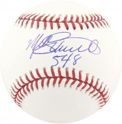 Mike Schmidt Autographed MLB Baseball with 548 Inscription