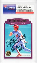 Mike Schmidt Philadelphia Phillies Autographed 1995 Upper Deck SP #112 Card with 1980 WS MVP Inscription - Mounted Memories  - Mounted Memories