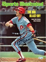 Mike Schmidt Philadelphia Phillies Autographed Big Blast Off Sports Illustrated - Mounted Memories