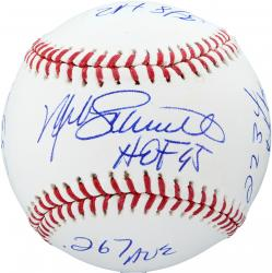 Mike Schmidt Philadelphia Phillies Autographed Baseball with Career Stats Inscriptions-#2-19 of Limited Edition of 20 - Mounted Memories