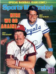 Mike Schmidt Philadelphia Phillies Autographed Here We Go Again Sports Illustrated