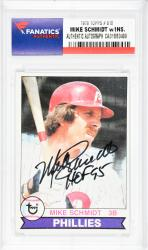 Mike Schmidt Philadelphia Phillies Autographed 1979 Topps #610 Card with HOF 95 Inscription - Mounted Memories  - Mounted Memories