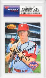 Mike Schmidt Philadelphia Phillies Autographed 1994 TWCC #Ms7 Card with HOF 95 Inscription - Mounted Memories