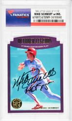 Mike Schmidt Philadelphia Phillies Autographed 1995 Upper Deck SP #112 Card with HOF 95 Inscription - Mounted Memories
