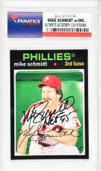 Mike Schmidt Philadelphia Phillies Autographed 2012 Topps #88 Card with HOF 95 Inscription - Mounted Memories