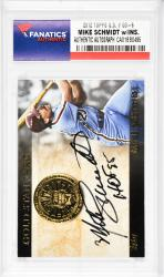 Mike Schmidt Philadelphia Phillies Autographed 2012 Topps G.S. #GS-6 Card with HOF 95 Inscription - Mounted Memories