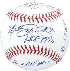 Mike Schmidt Philadelphia Phillies Autographed Baseball with Milestones Inscriptions-#1 of Limited Edition of 20 - Mounted Memories