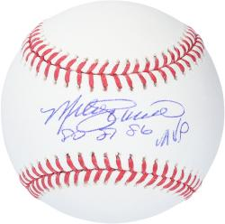 Mike Schmidt Philadelphia Phillies Autographed Baseball with 80',81',86' NL MVP Inscription - Mounted Memories