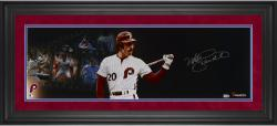 Mike Schmidt Philadelphia Phillies Framed Autographed 10'' x 30'' Filmstrip Photograph - Mounted Memories