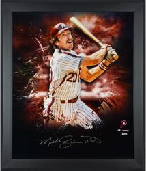 Mike Schmidt Philadelphia Phillies Framed Autographed 20'' x 24'' In Focus Photograph - Mounted Memories
