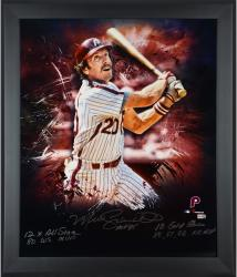 Mike Schmidt Philadelphia Phillies Framed Autographed 20'' x 24'' In Focus Photograph with Multiple Inscriptions-#2-19 of Limited Edition of 20 - Mounted Memories