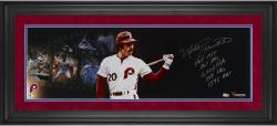 "Mike Schmidt Philadelphia Phillies Framed Autographed 10"" x 30"" Filmstrip Photograph-#2-19 of Limited Edition of 20"
