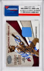 Mike Schmidt Philadelphia Phillies Autographed 2004 Leaf #78 Card with 3x NL MVP Inscription - Mounted Memories