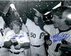 Fanatics Authentic Autographed Mike Schmidt, Pete Rose Philadelphia Phillies 16'' x 20'' Champagne Photograph with WS MVP inscription