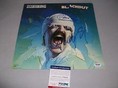 "SCORPIONS KLAUS MEINE & RUDOLF SCHENKER autographed ""BLACKOUT"" LP PSA/DNA COA"