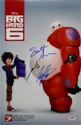 Scott Adsit Ryan Potter Genesis Rodriguez Signed Big Hero 6 11x17 Photo PSA/DNA