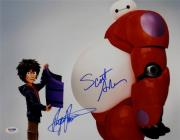 Scott Adsit Ryan Potter Signed Disney Big Hero 6 11x14 Photo Hiro Baymax A PSA