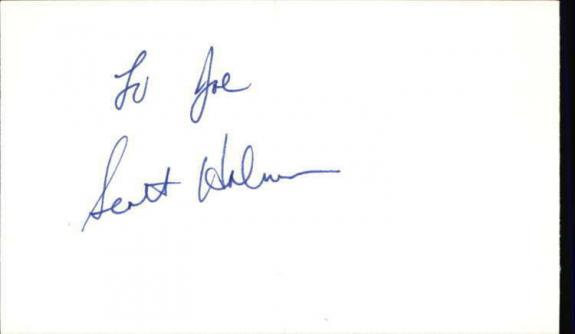 "Scott Holmes As the World Turns Signed 3""x5"" Index Card"
